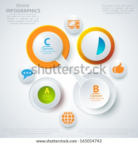 Modern business template style. Web info graphic  banner shape. Vector illustration for biz  presentation. - stock vector