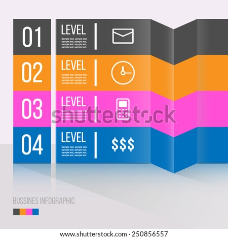 Modern bussines infographic illustration. Can be used for web design, diagram, banner. EASY EDITABLE. - stock vector