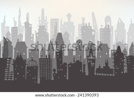 Modern capital illustration, City background  - stock vector