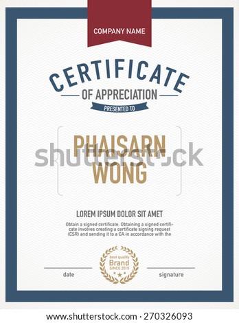 Modern certificate template. - stock vector