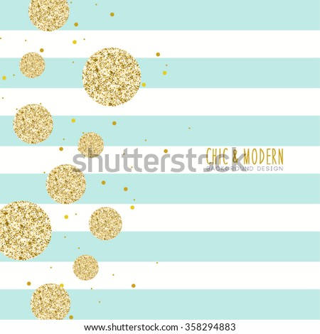 Modern Chic Polka Dot and Stripe Background Vector Design - stock vector