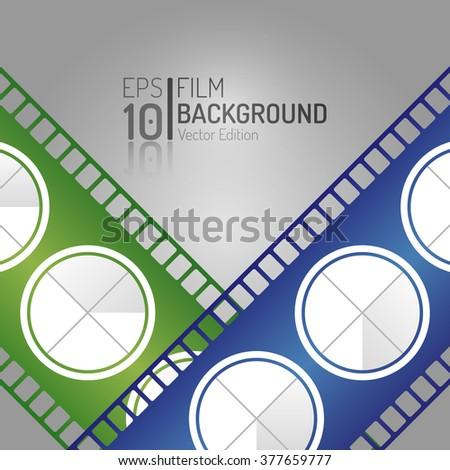 Modern Cinema Background Design. Vector Elements. Minimal Isolated Film Illustration. EPS10 - stock vector