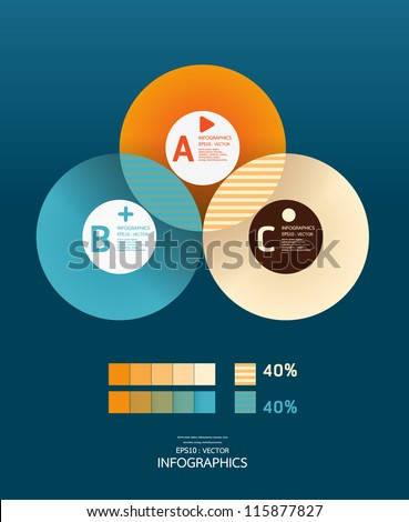 Modern Circle Design template  / can be used for infographics / numbered banners/ graphic or website layout vector - stock vector