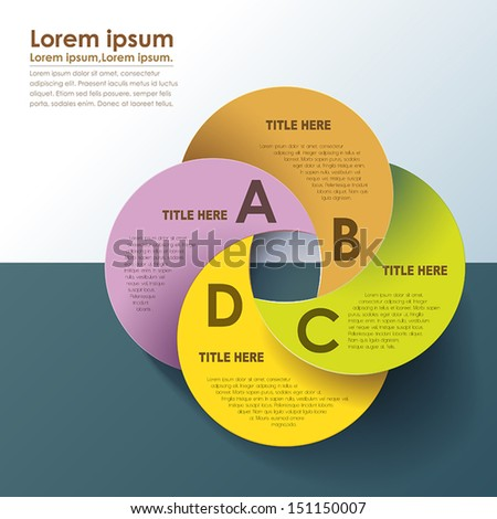 modern circle origami style options banner. can be used for workflow layout, diagram, number options, web design.  - stock vector