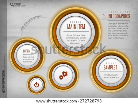 Modern circles vector layout. Web design, infographics, business brochure. - stock vector