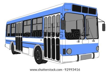 Modern City Bus Vector 01 - stock vector