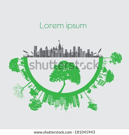 modern city living concept. and ECO concept - stock vector
