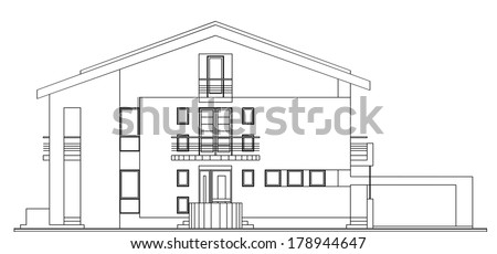 Classic facade modern stock photos images pictures for Classic american architecture