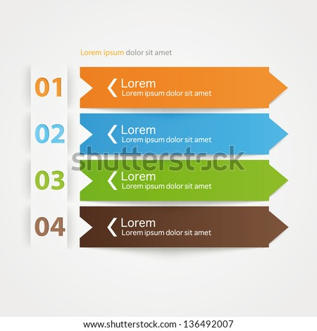 Modern colorful arrow origami style step up options banner. Vector illustration. - stock vector