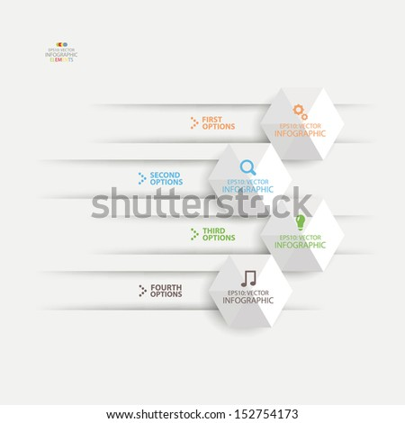 Modern colorful  banner design paper cut arrow background. Vector illustration.  - stock vector