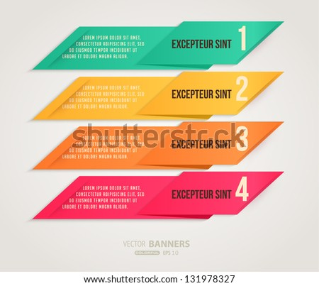 Modern colorful banners for business design - stock vector