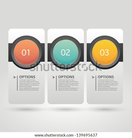 Modern colorful infographics banner. Vector illustration. - stock vector