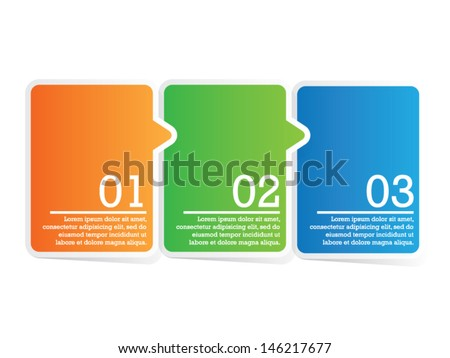 Modern Colorful Step by Step - stock vector