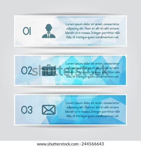 Modern colorful triangular style Business Infographics. Vector illustration. can be used for workflow layout, diagram, number options, web design, infographics. - stock vector
