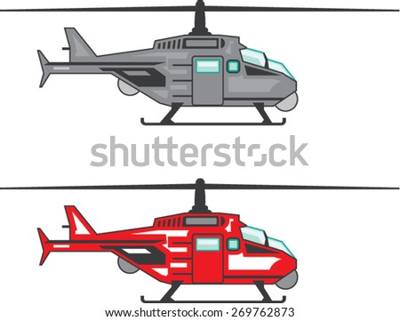 Modern Concept Helicopter - stock vector