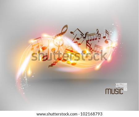 modern conceptual music notes vector design - stock vector