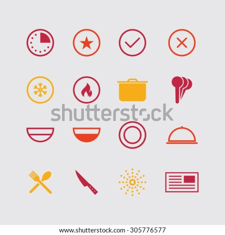 Modern cooking icons. - stock vector