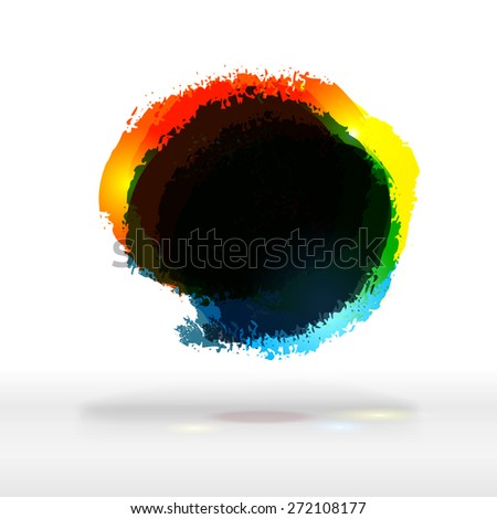 Modern corporate business bright bubble with dark place for text. Vector offer label template. Fresh colors logo, abstract background.  - stock vector