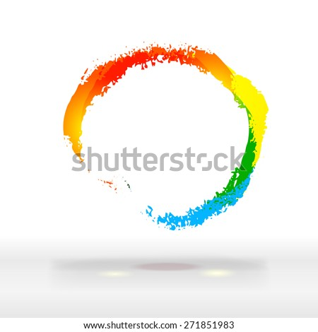 Modern  corporate business offer label. Fresh colors logo, abstract background. Abstract festive colorful cloud. Free therm website and banner design elements.  - stock vector
