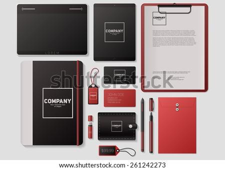 Modern corporate identity template design. Flat design vector illustration - stock vector