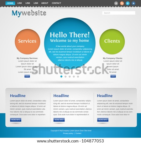 modern creative website template design - stock vector