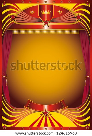 modern curtain. A background for your new show - stock vector
