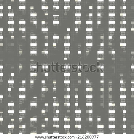 Modern 3d block technical style seamless background. Vector Version. - stock vector