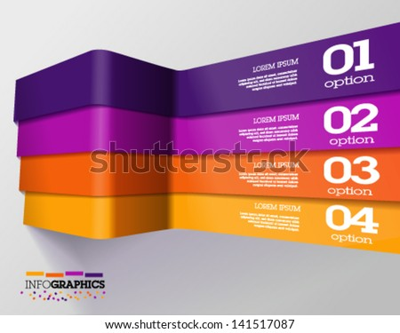 Modern 3D colorful infographics.  can be used for application or website navigation / web banners. Vector - stock vector
