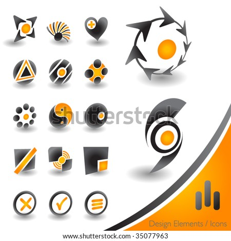 Modern 3D icons on white background for web or print - stock vector