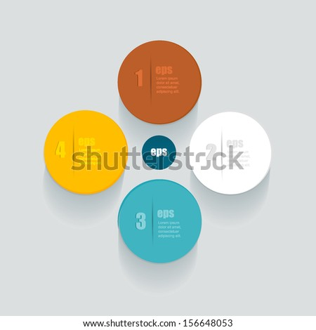 Modern design circle template for infographics.  - stock vector