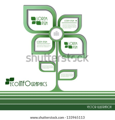 Modern design Ecology business template. Vector illustration - stock vector