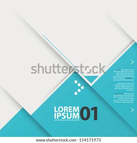 Modern design infographics template. - stock vector