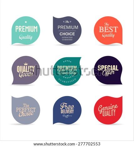 Modern design labels - stock vector
