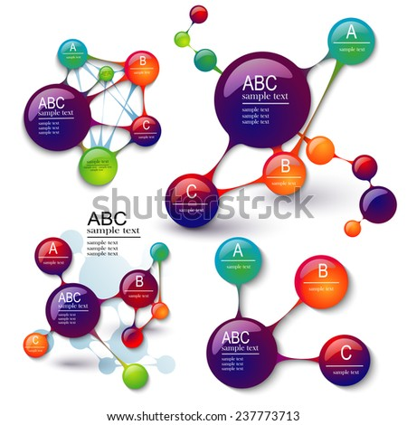 Modern Design Layout, EPS10 Vector, set layouts infographics - stock vector