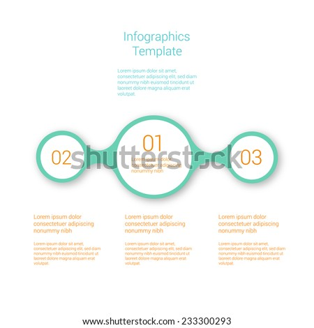 Modern Design Layout. Simply minimal infographic template design. Vector.  - stock vector