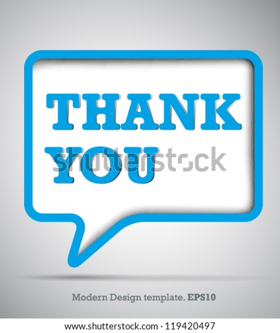 Modern Design Speech bubbles Thank you.vector - stock vector