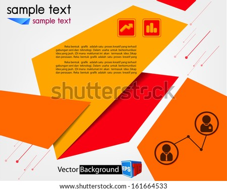 Modern Design template/ business brochure/ Abstract background EPS10 - stock vector