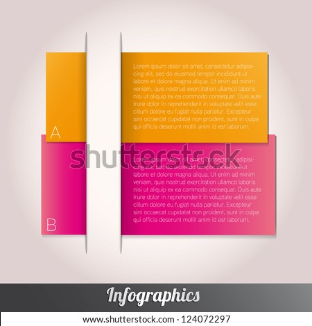 Modern design template can be used for infograph vector - stock vector