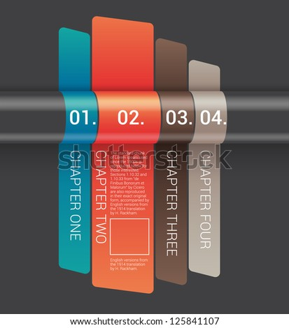 Modern Design template / can be used for infographics /banners / graphic or website layout vector - stock vector