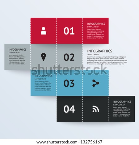 Modern Design template for infographics, banners, graphic or website layout. Vector illustration. - stock vector