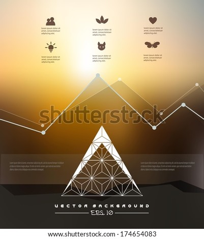 Modern Design template for your business presentations./ can be used for infographics/ Corporate website design. Minimalistic multifunctional media backdrop./ graphic or website layout vector. EPS10. - stock vector