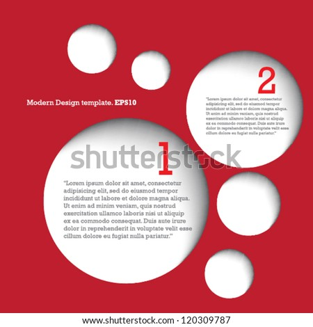 Modern Design Template for Your Website or Banner. vector - stock vector