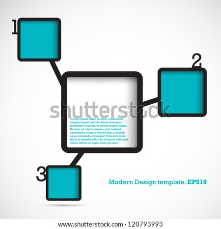 Modern Design Template Numbered Simply infographic. vector - stock vector