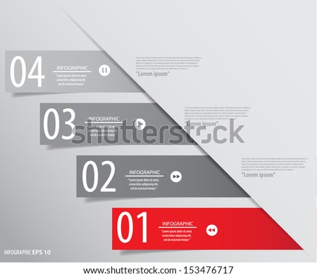 Modern Design template used for infographics numbered banners - stock vector