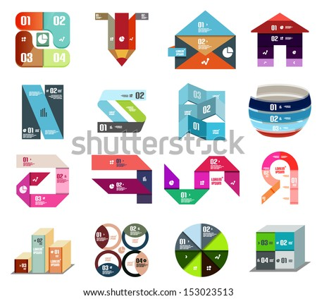 Modern design template. Vector set of backgrounds and elements - stock vector