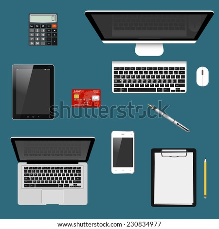 Modern detailed icons collection with trendy colors for e-business, web sites, mobile applications, banners, corporate brochures, book covers, layouts etc. Vector eps10 illustration - stock vector