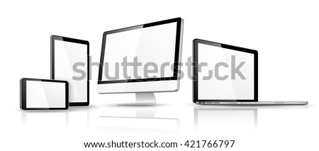 Modern device isolated. Vector - stock vector