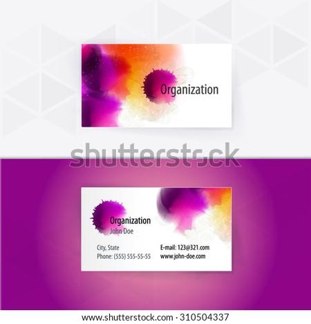 Modern Digital Business-Card Set | EPS10 Vector Design - stock vector