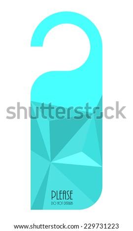 modern do not disturb door hanger with triangle design - stock vector