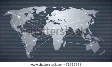 Modern earth in a web - stock vector
